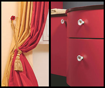 Decorating with cabinet hardware