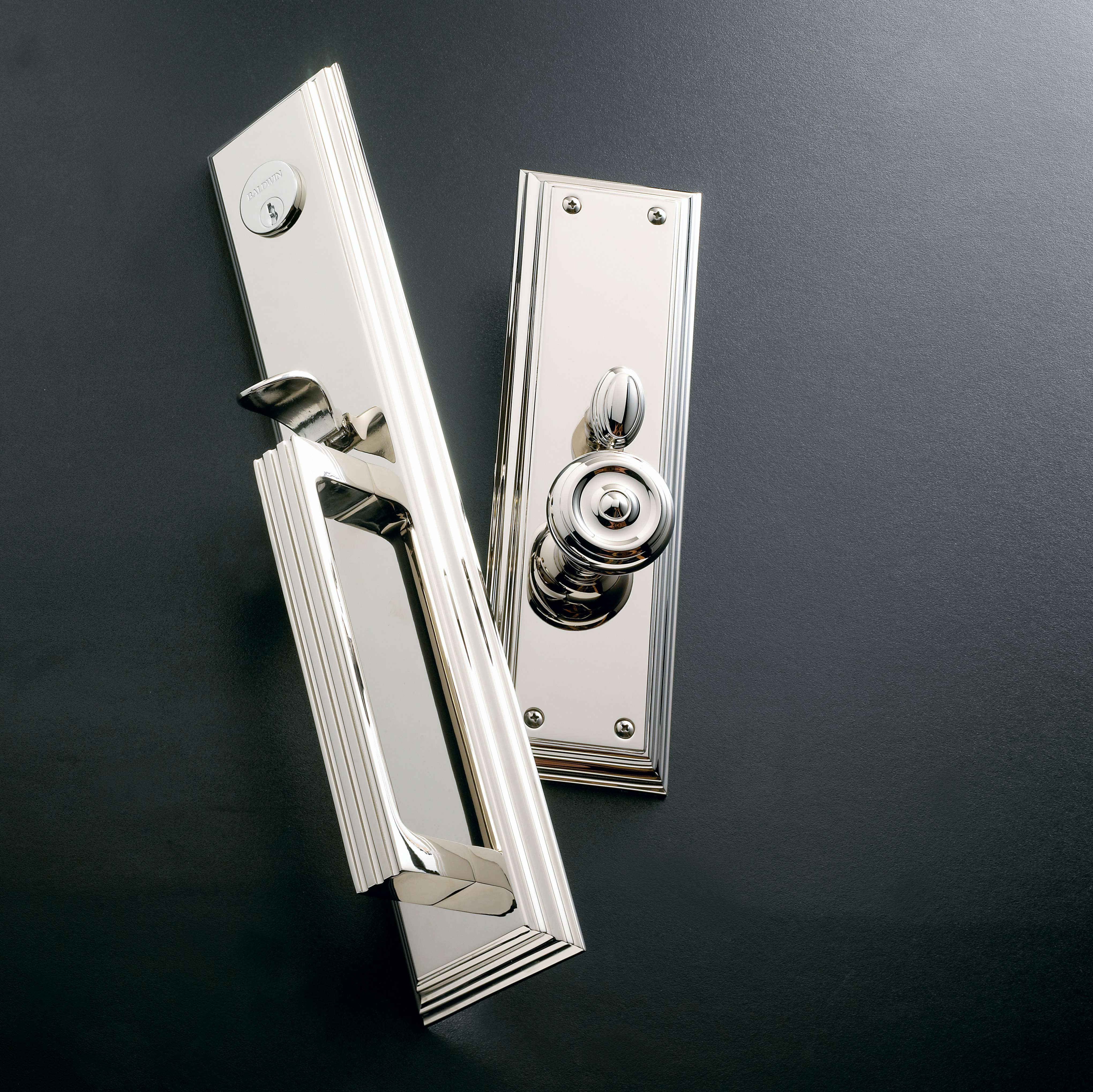 thumbturn hardware and pin punch handle by baldwin lock brass door buster lever